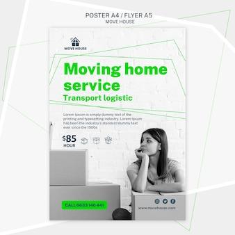 Modelo de folheto para serviço de mudança