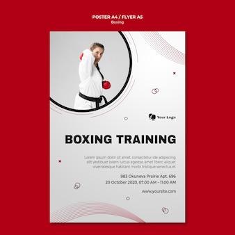 Modelo de folheto para treinamento de boxe
