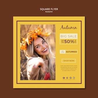 Modelo de folheto para vendas de outono e descontos