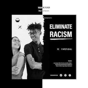 Modelo de folheto - pare o racismo