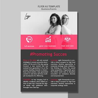 Modelo de folheto - promovendo o sucesso