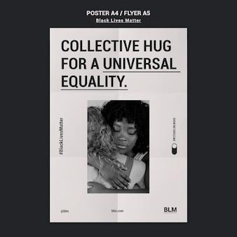 Modelo de folheto - protesto de vidas negras