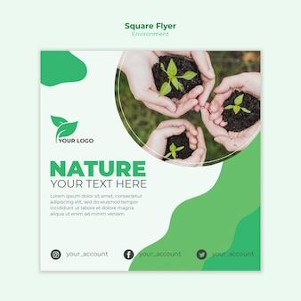Modelo de folheto quadrado ambiental
