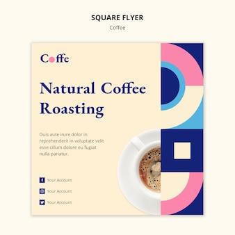 Modelo de folheto quadrado café