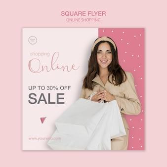 Modelo de folheto quadrado compras online