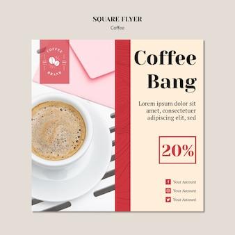 Modelo de folheto quadrado criativo café