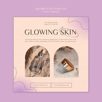 Modelo de folheto quadrado para cuidados com a pele