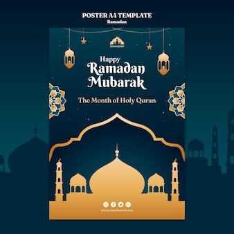 Modelo de folheto ramadan kareem