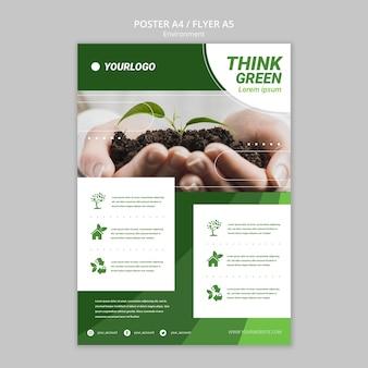 Modelo de folheto - salvar o mundo