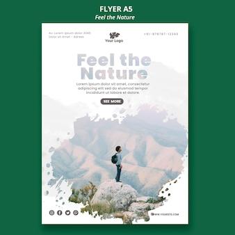 Modelo de folheto - sentir a natureza