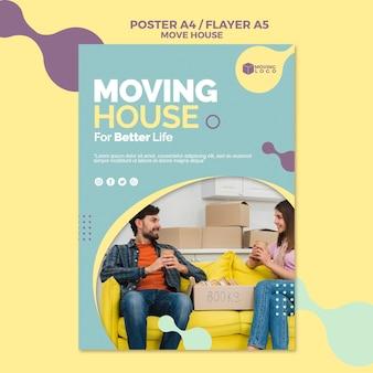 Modelo de folheto - serviço de mudança de casa