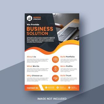 Modelo de folheto - solução de negócios corporativos
