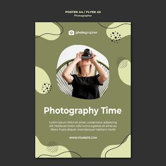 Modelo de folheto - tempo de fotografia