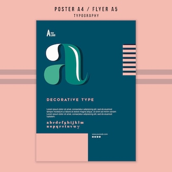 Modelo de folheto - tipografia