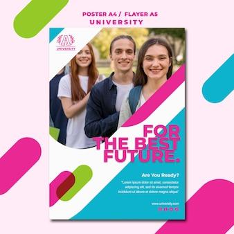 Modelo de folheto - universidade de conceito de educação