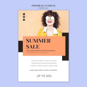 Modelo de folheto - venda verão