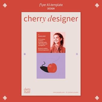 Modelo de folheto vertical para designer gráfico