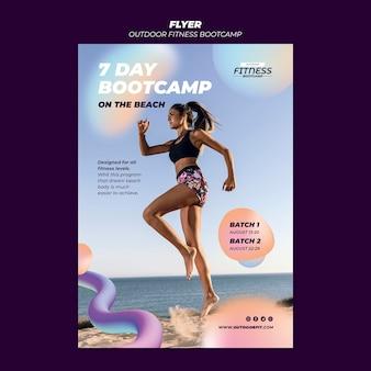Modelo de folheto vertical para fitness ao ar livre