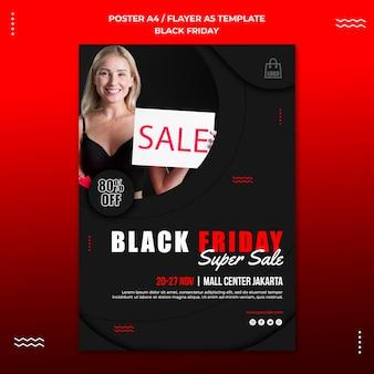 Modelo de folheto vertical para liquidação na sexta-feira negra