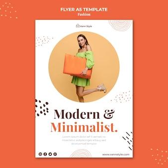 Modelo de folheto vertical para loja de compras de moda