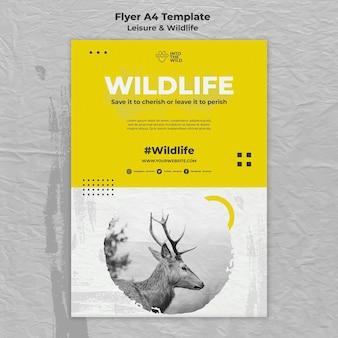 Modelo de folheto vertical para proteção da vida selvagem e do meio ambiente
