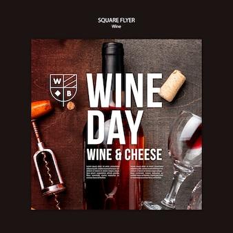 Modelo de folheto - vinho