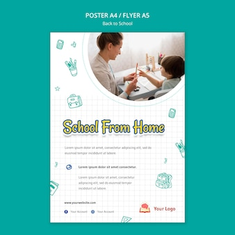 Modelo de folheto - volta à escola
