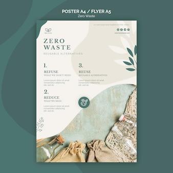 Modelo de folheto - zero resíduos