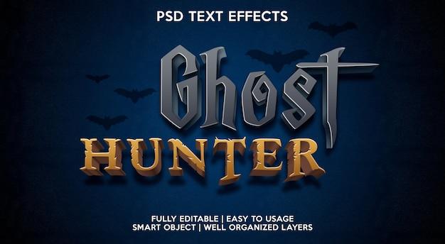 Modelo de fonte de texto com efeito de texto de caçador de fantasmas