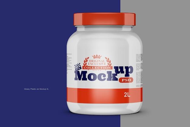 Modelo de frasco de proteína brilhante