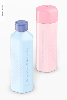Modelo de garrafas de água hexagonal 700 ml