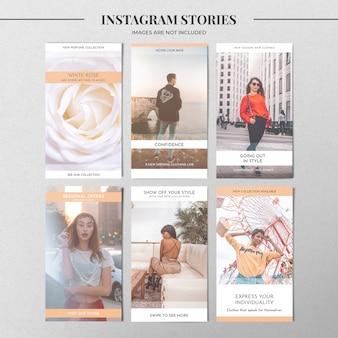 Modelo de história de instagram pastel