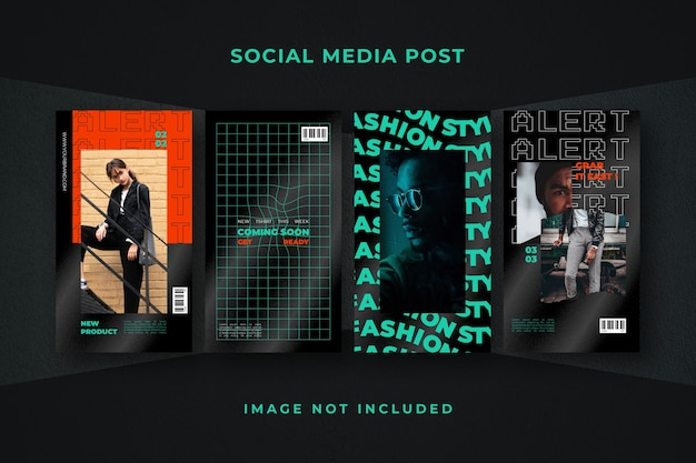 Modelo de história de mídia social para instagram