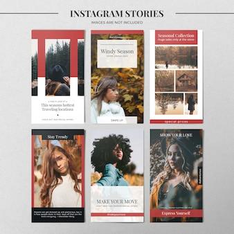Modelo de história de moda instagram
