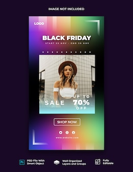 Modelo de história do instagram black friday