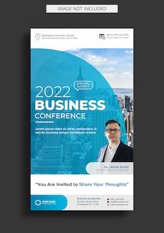 Modelo de história do instagram da conferência de negócios