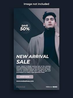 Modelo de história do instagram de banner de venda de moda
