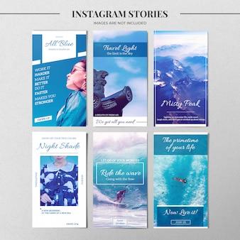 Modelo de história do instagram de natureza