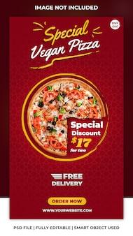 Modelo de história do instagram de pizza