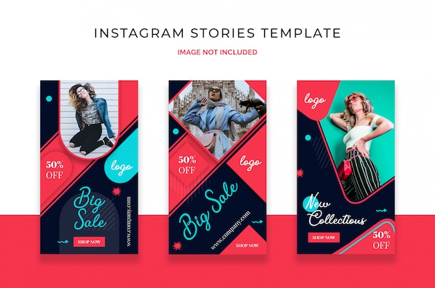 Modelo de história do instagram de venda
