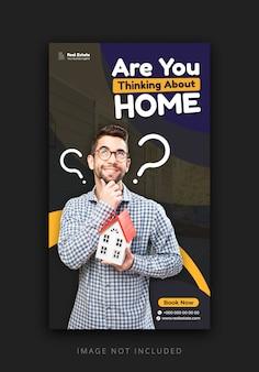Modelo de história do instagram para promover negócios imobiliários
