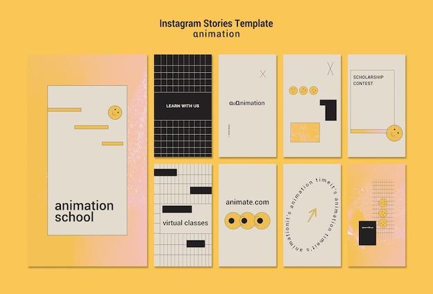 Modelo de histórias de animação instagram