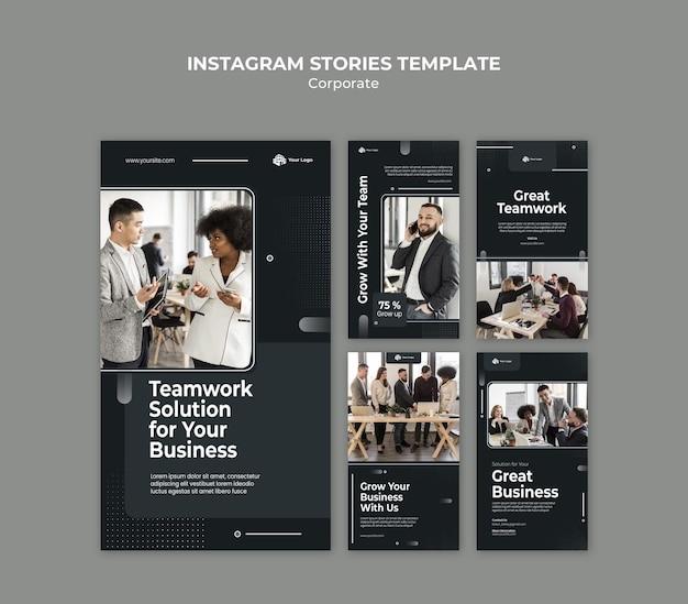 Modelo de histórias de anúncios corporativos no instagram