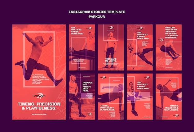 Modelo de histórias de anúncios de parkour no instagram