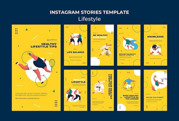 Modelo de histórias de estilo de vida no instagram