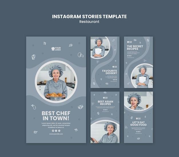 Modelo de histórias de instagram de anúncio de restaurante