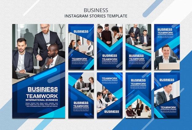 Modelo de histórias de instagram de conceito de negócios
