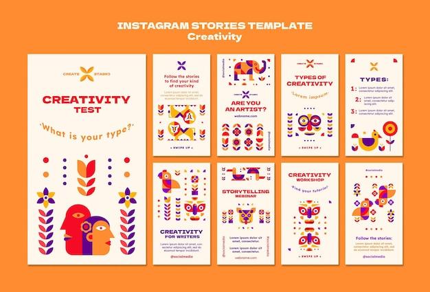 Modelo de histórias de instagram de criatividade