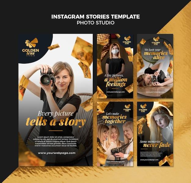 Modelo de histórias de instagram de estúdio fotográfico