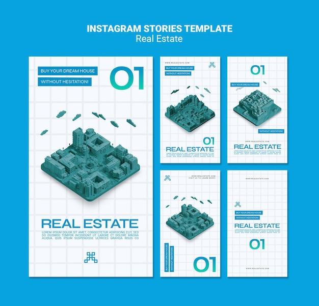 Modelo de histórias de instagram de imóveis